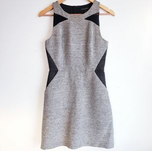 Banana Republic Woven Tweed Mini Dress Gray XS